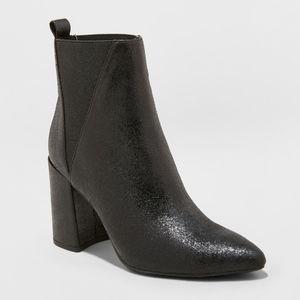 A New Day Nikita Metallic Pointed Boots Black
